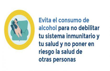 No consumas ninguna bebida alcohólica con la finalidad de prevenir o tratar la infección por COVID-19. El consumo de alcohol no protege del COVID-19